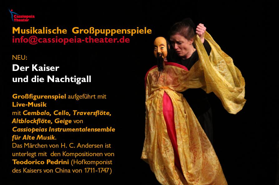 Neu ab September 2017: Der Kaiser und die Nachtigall mit Live-Musik